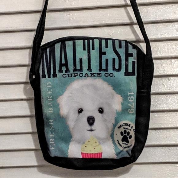 Handbags - Small Zippered Maltese Dog Bag NWOT